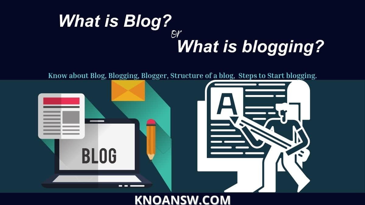 What is blog, blogging or blogger to start a blog