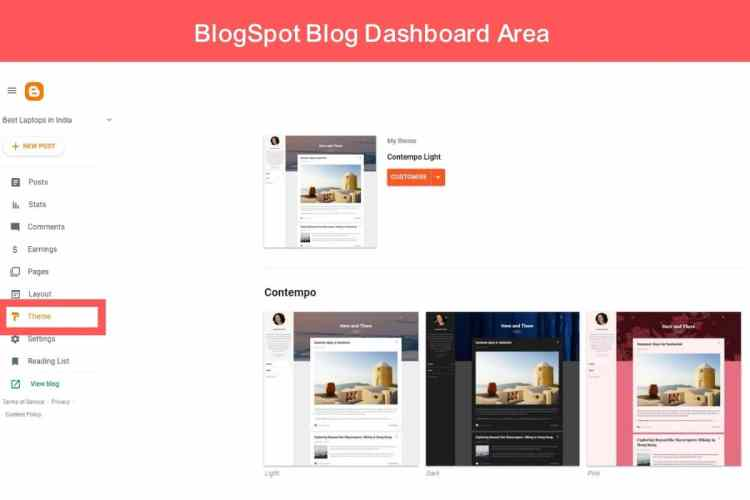 A Detailed Overview Of BlogSpot Dashboard Area