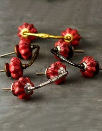 Red Colored Cupboard Cabinet Drawer Pull   Knobco