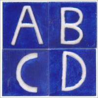 Ceramic Alphabet Tiles | Knobco