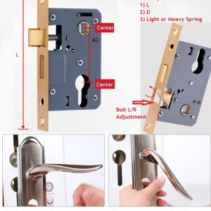 Smooth 50mm 58mm 72mm Mortise Wooden Indoor Interior Door Lock Body Replacement Bedroom Swing Door
