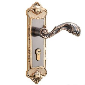 1 Set Engineering European bedroom interior general wood mute gun gold three-piece suit apartment door lock mechanical magnetic
