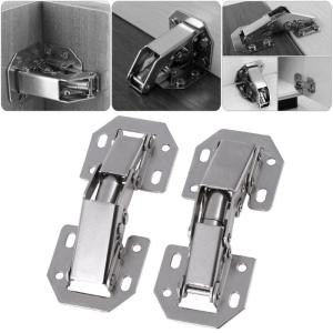 10pcs/SET 3in Bridge Shaped Spring Frog Cabinet Closet Door Hinges No Drilling Hole Furniture Hardware Kitchen Cabinet Support