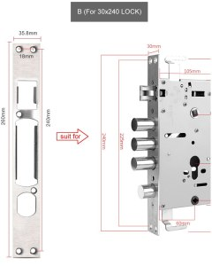 Stainless steel door lock guide piece, Door frame door buckle,Anti-theft door lock body accessories
