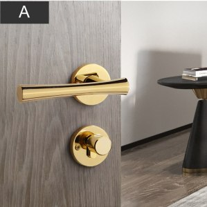Super luxury Golden handle lock, Zinc alloy door lock,Interior bedroom room wooden door,you must love the handles,door hardware