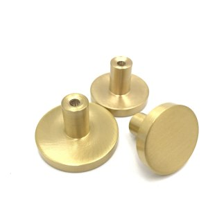 Brass furniture round handle of drawer wardrobe door knob handles bookcase dresser simple small Pulls cabinet single hole handle