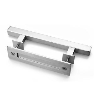 Heavy Duty 12 Inches Square and Flush Two-Side Barn Door Handle for Sliding Barn Door Gates Garages Sheds Furniture