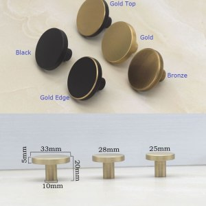 2Pcs/Lot Premintehdw Solid Brass furniture Knob Knobs Cabinet Drawer Cupboard Door Black Gold Bronze mushroom