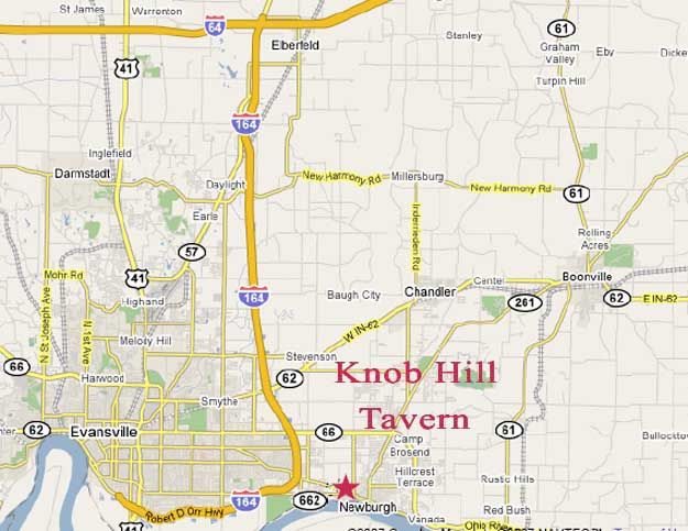 Map to Knob Hill Tavern