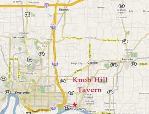 Map to Knob Hill Tavern