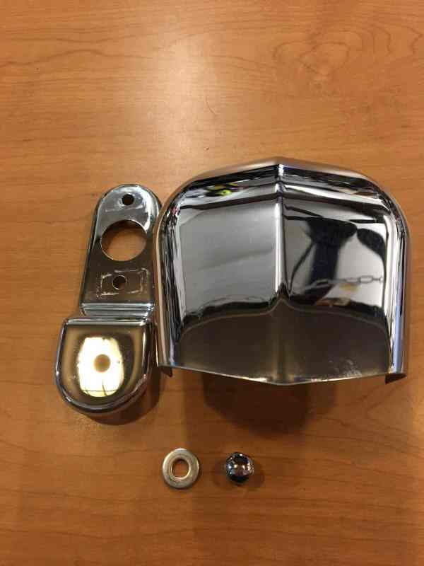 Harley Davidson Chrome Horn Cover #69012-93A And Bracket #69120-91