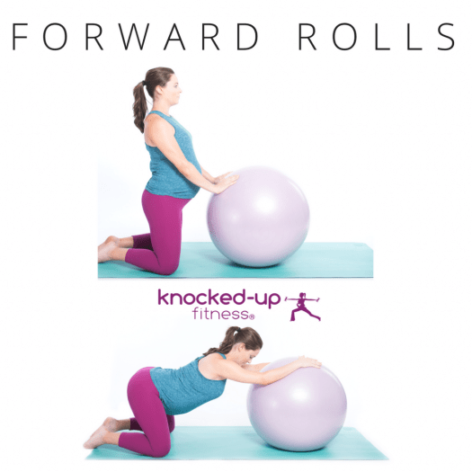 picture of forward rolls pregnancy stretch