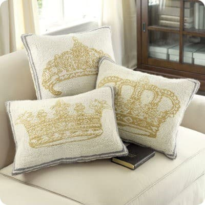 Vintage Crown Pillow  KnockOffDecorcom