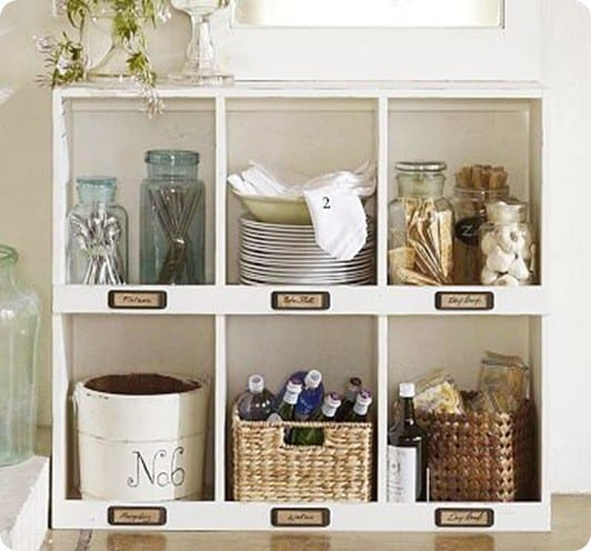 Chalk Paint Bookshelf With Tag Holders