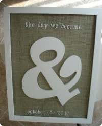 Framed Ampersand Wall Art