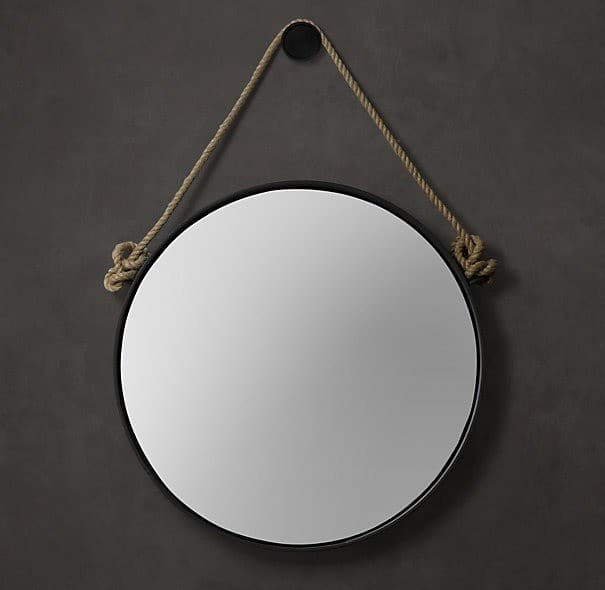 Round Rope Mirror  KnockOffDecorcom