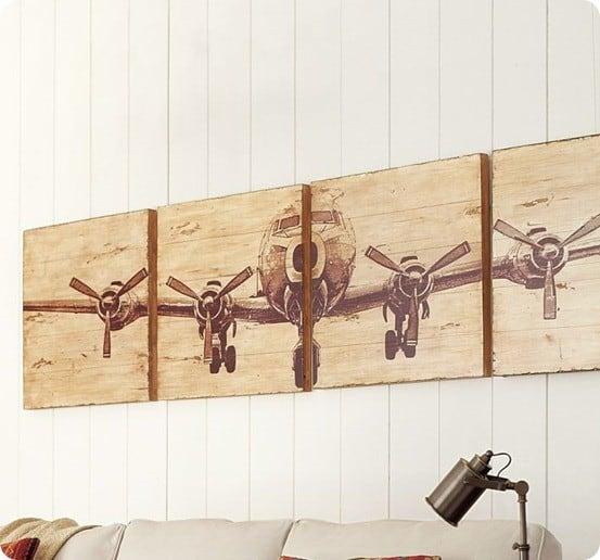 Wooden Airplane Valance