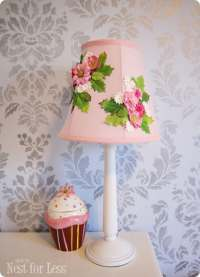 Flower Embellished Lampshade