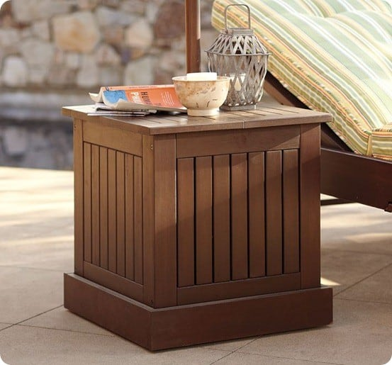 Umbrella Stand Side Table with FREE Plans