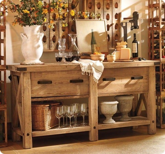 Rustic X End Table  KnockOffDecorcom