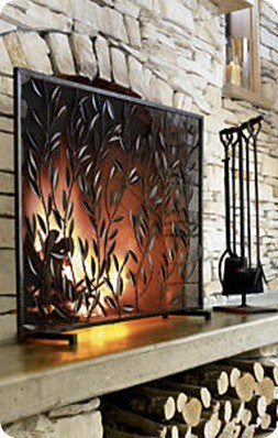 Decorative Fireplace Screen  KnockOffDecorcom