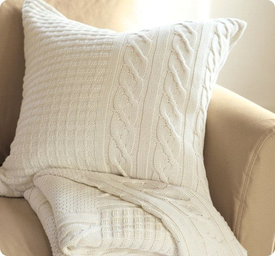 Pillows Made From Sweaters