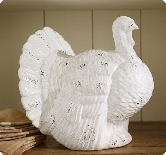 rustic kitchen hardware aid slow cooker white ceramic turkeys - knockoffdecor.com