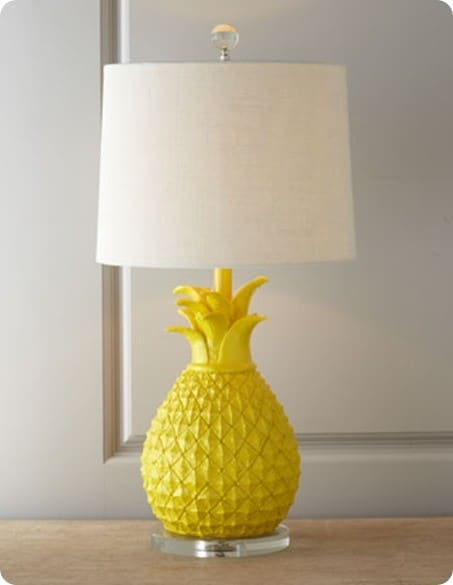 Bright Yellow Pineapple Table Lamp