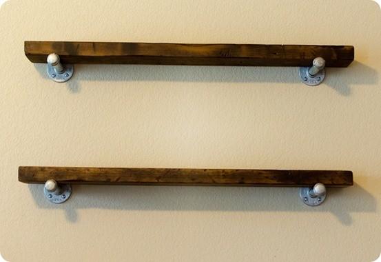 Reclaimed Wood Wall Shelves