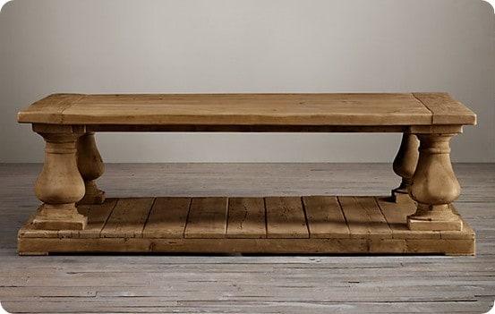 Salvaged Wood Balustrade Coffee Table