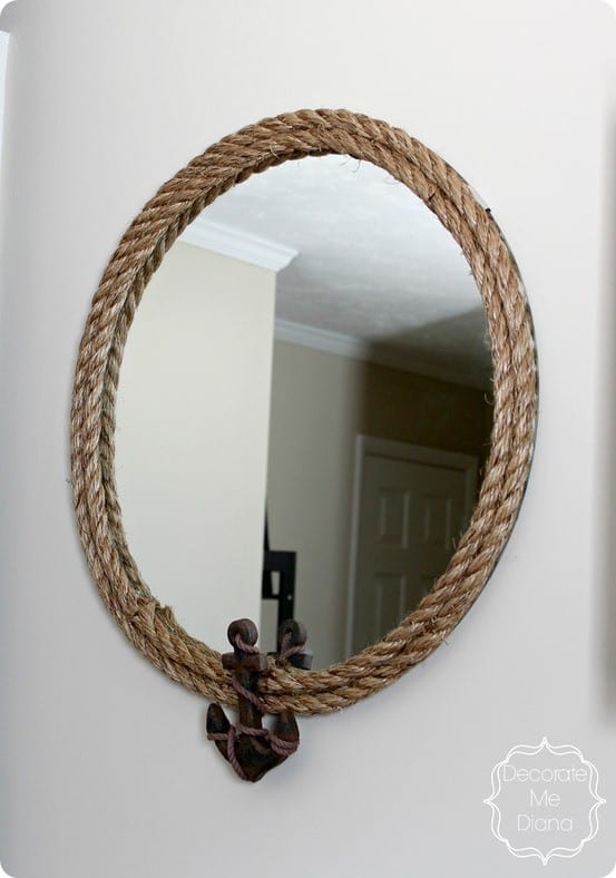 Nautical Rope Mirror with Anchor  KnockOffDecorcom