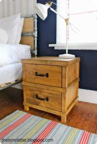 Masculine Camp Style Nightstand for a Boys Room
