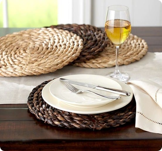Set Your Summer Table With Jute Rope Chargers