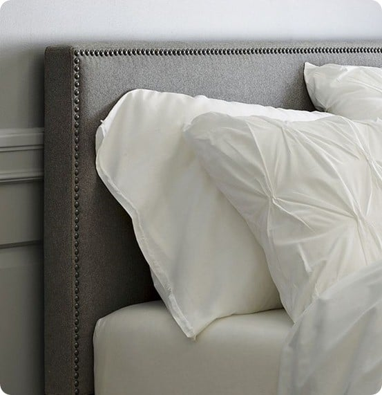 Upholstered Headboard with Nailhead Trim  KnockOffDecorcom