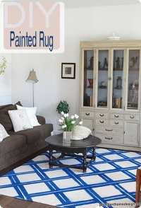 Blue and White Lattice Spray Painted Rug - KnockOffDecor.com