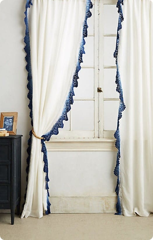 LaceTrimmed Curtain Panels  KnockOffDecorcom