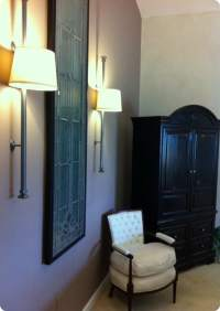 DIY Wall Sconce from a Drapery Rod