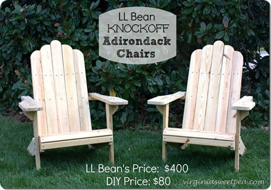 ll bean adirondack chairs large accent how to make wooden knockoffdecor com diy home decor ideas tutorial
