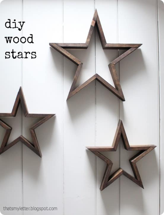 Rustic Wood Wall Stars  KnockOffDecorcom