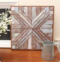 Wood Quilt Square Wall ArtNo Cutting Required!
