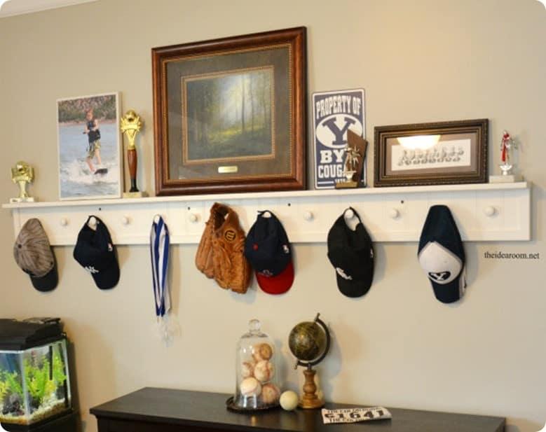 Beadboard Peg Shelf For A Boys Room
