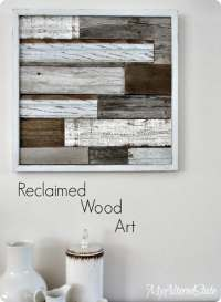 Reclaimed Wood Planked Wall Art