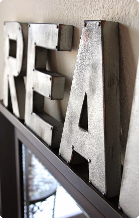 DIY Faux Metal Letters  KnockOffDecorcom