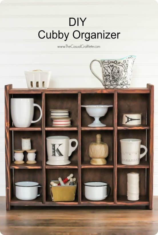 DIY Cubby Organizer Shelf  KnockOffDecorcom