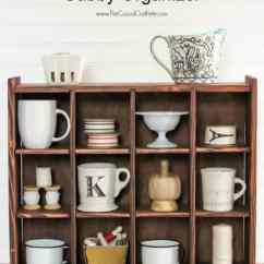 Kitchen Shelf Display Ideas Curtains Blue Diy Cubby Organizer