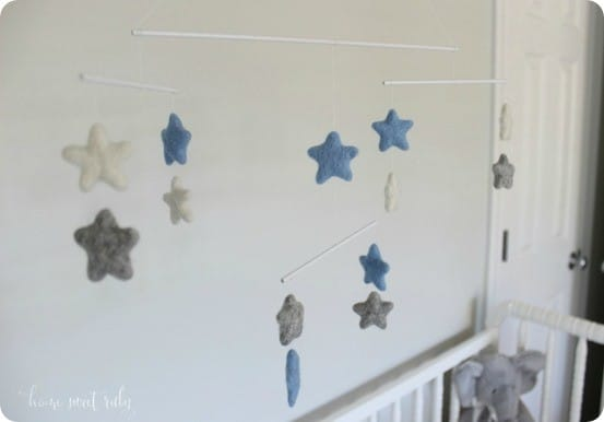 Felted Wool Star Mobile  KnockOffDecorcom