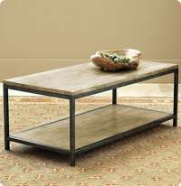 Wood and Metal Frame Coffee Table