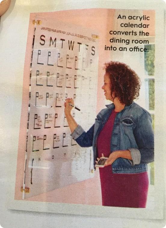 Acrylic Dry Erase Calendar