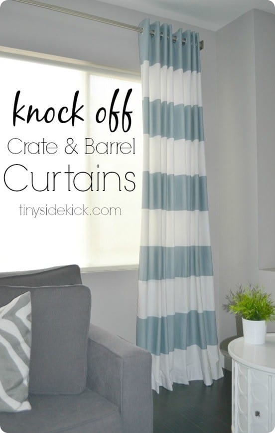 Turn a Shower Curtain into a Window Panel  KnockOffDecorcom