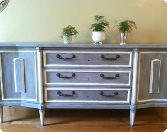 Painted Buffet With A Good Old Fashioned Wash